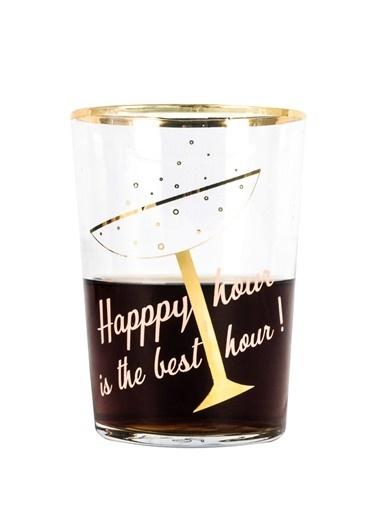 Rakle 510 cc Happy Hour Champagne Meşrubat&Kokteyl Bardağı Altın